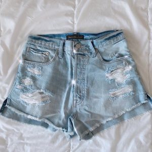 Abercrombie & Fitch High Waisted Jean Shorts!